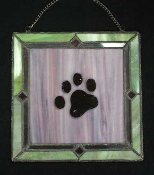 Window Art:  Paw Print