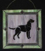 Window Art:  Black Lab