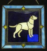 Window Art:  Yellow Lab
