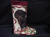 Rottweiler Needlepoint Stocking