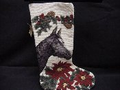 Painted Horse Needlepoint Stocking