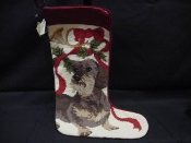 Dachshund Needlepoint Stocking