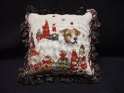 Jack Russell Terrier Holiday Pillow