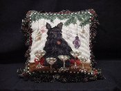 Scottish Terrier Holiday Pillow