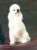 Dog Figurine-White Poodle