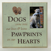 Frame- Paw Prints on my Heart Lg