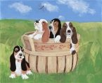 Basket Hounds Print